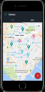 Saha Ekibi Yönetimi - Müşteri Harita Görünüm Ekranı
