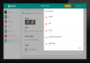 FieldPie: Saha Otomasyonu - Form Ekranı